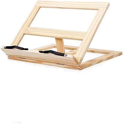 Support de lecture en bois pour ordinateur portable Support pour tablette de lecture Beige