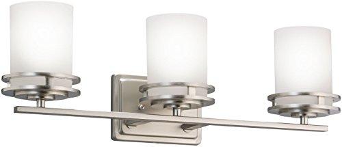 Wide Wall Lighting Fixture - Kichler 5078NI Bath 3-Light, Brushed Nickel