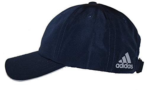 (adidas A605 Performance Poly Relaxed Golf Hat with Rear Logo (Navy))