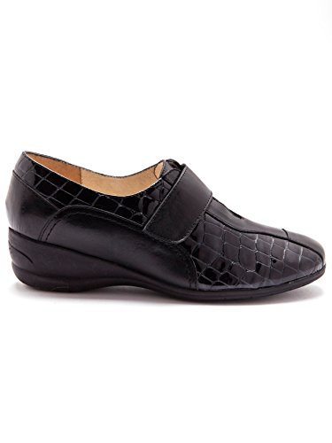 À Confort Pediconfort Derbies Patte Noir Largeur Chaussures agrippante Auto f600qaxw