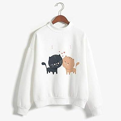 zysymx Camisetas con Estampado de Gato Ropa de Cuello Alto de ...