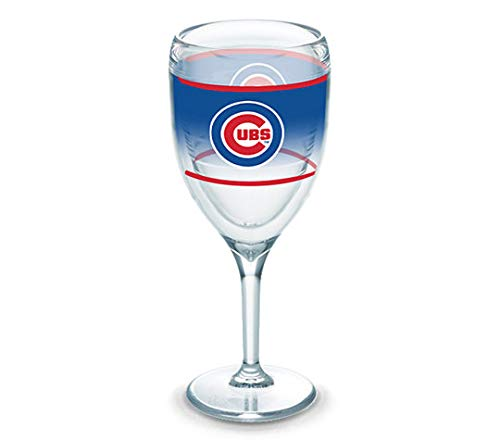 Tervis Chicago Cubs 9 Ounce Wine Glass, MLB (Chicago Wine Glass)