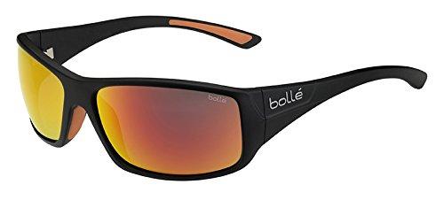Bolle Kingsnake Sunglass with TNS Fire Lens, Matte - Lenses Sunglasses Bolle