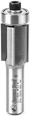"""Amana Tool - 57184 Carbide Tipped Super Flush Trim 3/4 Dia X 1"""" 2 Shank X 4-Flute"""