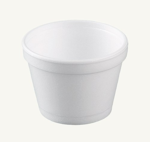 Dart 12SJ20, 12 Oz. Customizable White Foam Cold And Hot Food Container with Foam Vented Lid, Dessert Ice-Cream Yogurt Cups, Deli Food Containers with Matching Covers (100)