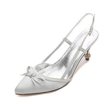 Las Wedding Confort Mujeres'S Shoes CN41 Bowknot US9 Rhinestone Heelivory Noche UK7 De Azul Boda EU40 Primavera Rubí Verano Vestido Champán Satin Plana amp;Amp; wFwqrdx