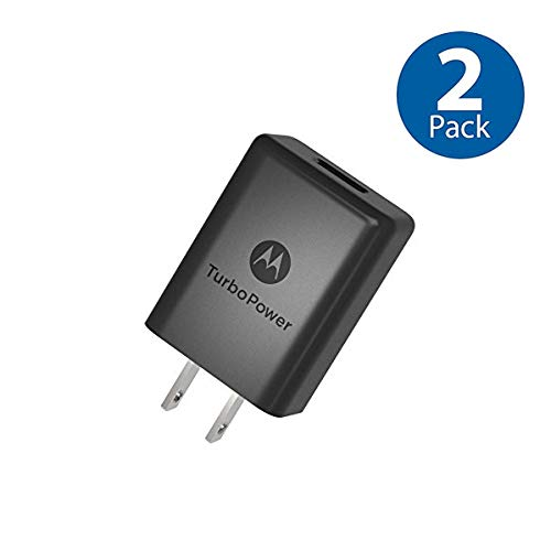 2 Pack Bundle - OEM Motorola SPN5970A TurboPower 15+ QC 3.0 Charger Moto G5 Plus