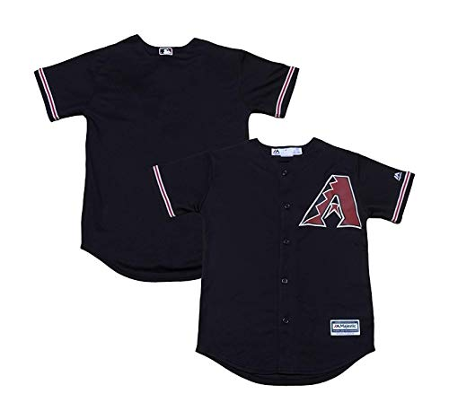 Arizona Diamondbacks Word Mark Black Youth Cool Base Alternate Replica Jersey (Medium 10/12) ()