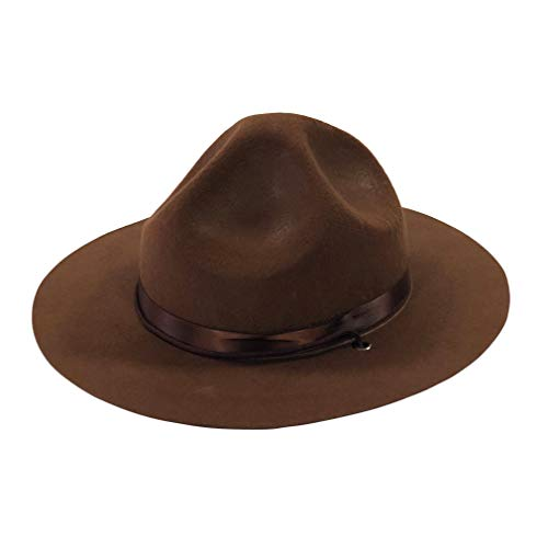 YIDAMY Ranger Hat - Brown Drill Sergeant Military Campaign Hat]()