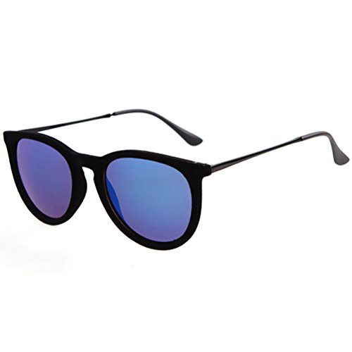 Guoxuan Modern Unisex Velvet Classic Round Frame Polarized Sunglasses - Sunglasses Holbrook Cheap