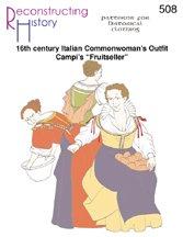 16th Century Italian Fruitseller or Common Woman's Dress -