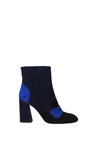 MOXANNE Stuart Weitzman Botines Mujer Gamuza Azul Azul
