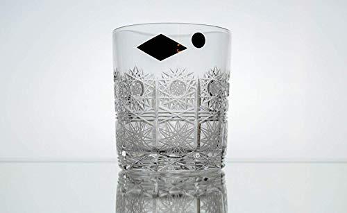 Bohemian Cut Glass - BOHEMIAN CRYSTAL GLASS WHISKEY GLASSES 10oz./300ml. SET of 6 HAND CUT OLD FASHIONED HEAVY BASE ROCKS CRYSTAL GLASS SCOTCH BOURBON VODKA BRANDY ELEGANT VINTAGE DESIGN CLASSIC CZECH CRYSTAL GLASS