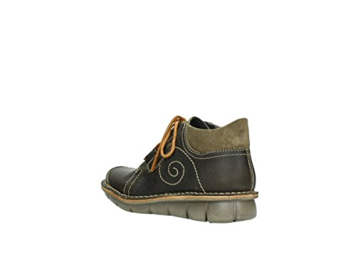 500 Botas 50730 Leather 8384 Wolky Green mujer para Oiled Forest gS5wWOq