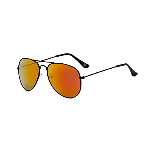 Royal Son UV Protected Aviator Unisex Sunglasses (RS0024AV|58|Red Mirrored Lens)