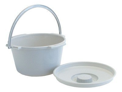 Lumex 6691 Everyday 7 qt Commode Pail, with cover, Grey, Case of 6