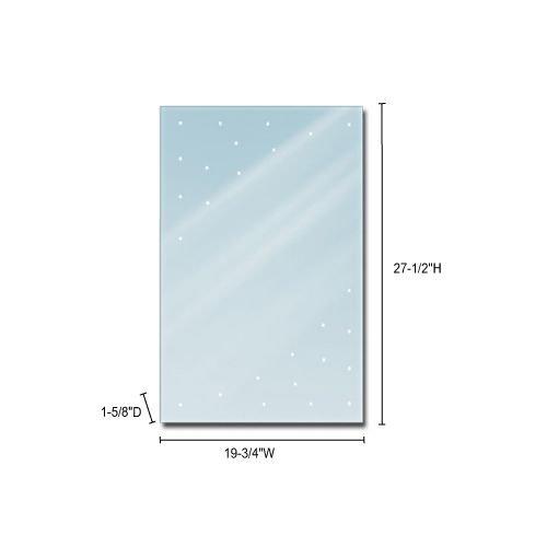 Jesco Lighting Group Rectangular LED Back-Lit Mirror, Clear