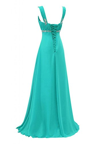 da Mint Pageant Blue Sunvary Gorgeous abito sera satinato lunghezza Empire sera ZHPYzw
