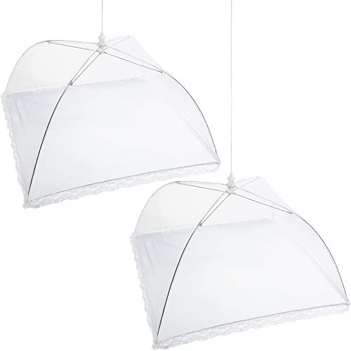 - Mesh Screen Food Cover Tents - Set of 2 Large Galvanized Steel Wire Pop-Up Tents, Stylishly and Conveniently Keeps Bugs Away From Food by Chuzy Chef