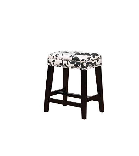- Linon Walt Black Cow Print Counter Stool