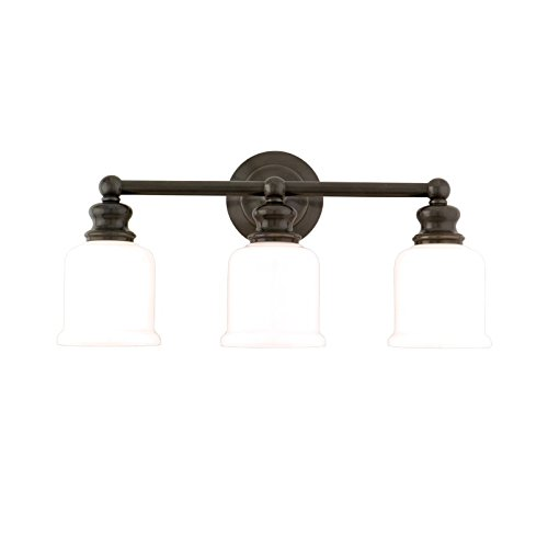 Hudson Valley Lighting 2303-OB Three Light Bath Bracket from the Riverton collection 3, Old Bronze