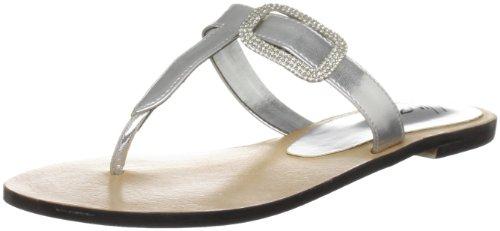 Unze Evening Slippers L18264W - Sandalias para mujer Plateado