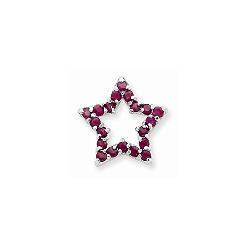 Star Slide Pendant (ICE CARATS 925 Sterling Silver Red Gemstone Star Slide Necklace Pendant Charm Chain Fine Jewelry Ideal Gifts For Women Gift Set From Heart)