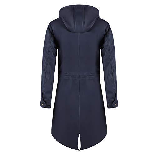 Parka Para Manga Larga Impermeable Abrigo Azul Mujer Swampland AFa6w
