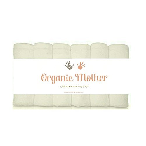 Mommy To Be Milk Bath - ORGANIC MOTHER 6 EXTRA SOFT Baby Bath Washcloths, 100% Natural Bamboo Towels, Dye Free, Perfect for Sensitive Baby Skin, 100% Organic, Hypoallergenic, All Natural, Bamboo, Eco Friendly- SIZE 10