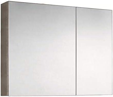 ミラーキャビネット LED照明付き浴室医学キャビネット、ミラー、照明付き医学キャビネット浴室医学キャビネット (Color : Silver, Size : 80x70x13cm)