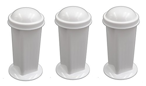 Polypropylene Staining Coplin Jar Holds 5-10 Slides - Eisco Labs - Pack of 3 ()