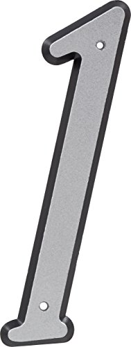 HIllman 841598 4-Inch Nail-On Reflective Plastic House Number 1