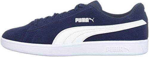 PUMA Men's Smash v2 Sneaker peacoat-white 9.5 M US