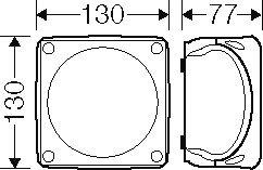 Hensel KF – Caja 0606 B 1,5 – 6 6 6 5 Pines. Bote, Caja para Montaje en la Pared/Techo 4012591121848 e39c3d