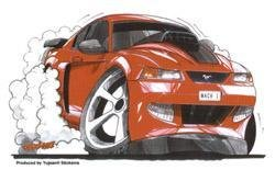 Kool Art - Red Mach 1 Car - Sticker / Decal