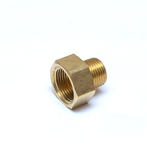 "FasParts 3/4"" Female NPT FPT FIP to 1/2"" Male MPT MIP Brass Pipe Adaptor Fitting Fuel / Air / Water / Boat / Gas / Oil WOG"