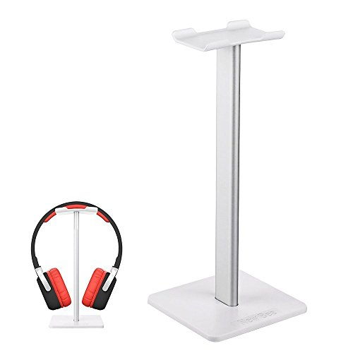 Auledio Headphone Stand, Universal Aluminum Headphone Holder Gaming Headset Display Hanger for Desk Organizer – White For Sale