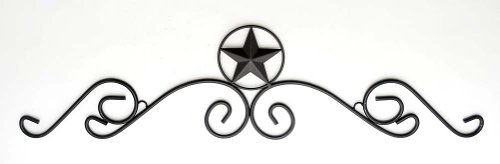 Texas Star Wrought Iron Over Door Header-36L X 8.5H