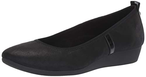 Anne Klein Women's Estelle Flats Ballet, Black Fabric, 8 M US