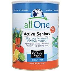 Все Одно порошок Несколько Витамины и минералы для активных пенсионеров, 2,3-фунт Can