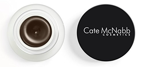 Natural Mineral-based Brown Gel Eyeliner - Waterproof, Smudge Resistant, Gluten-Free, Paraben-Free, Cruelty-Free by Cate McNabb Cosmetics, 0.10 oz.