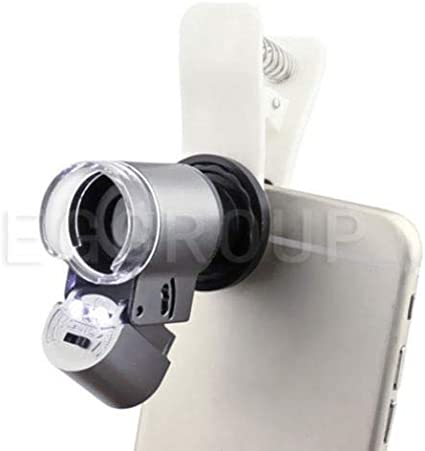 FidgetGear 65X 100X 200X Zoom Clip-on HD Microscope Phone Camera Lens with LED for Mobile 200X Microscope Camera Lens HTC Desire 650 625