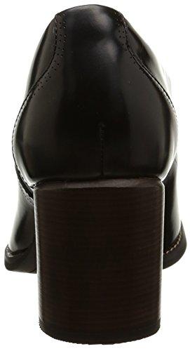 de Clarks Tarah Black Victoria zapatos Leather mujer Negro cerrados cuero de tacón qU4xYwd4