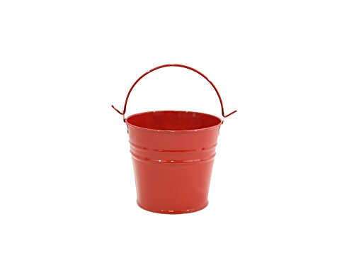 Medium Red Enamel Pail