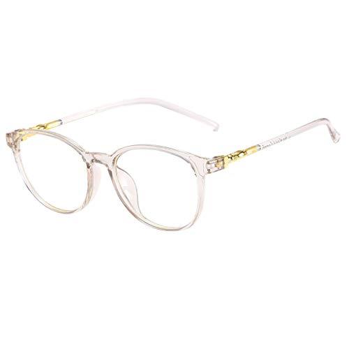 iNoDoZ Classic Stylish Square Non-prescription Eyeglasses Circle Lens Glasses Clear Lens Eyewear Men Women ()