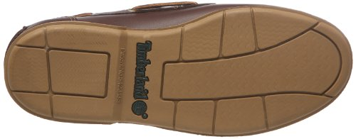 Timberland Icon 2-Eye - Mocasines de cuero para hombre Marrón (Marron foncé (Dark Brown Smooth))
