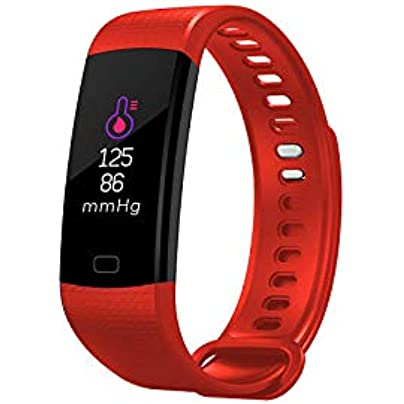 pomelogreem Smart watch Fitness Tracker Color screen Bluetooth sports bracelet step heart rate smart bracelet for Men Women Kids with Pedometer Waterproof Estimated Price £26.74 -