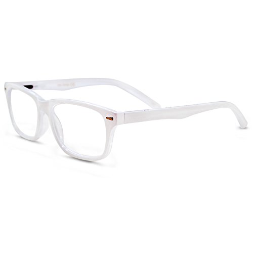 In Style Eyes Seymore Wayfarer Reading Glasses. Not Bifocals White 3.25 White Reading Glasses