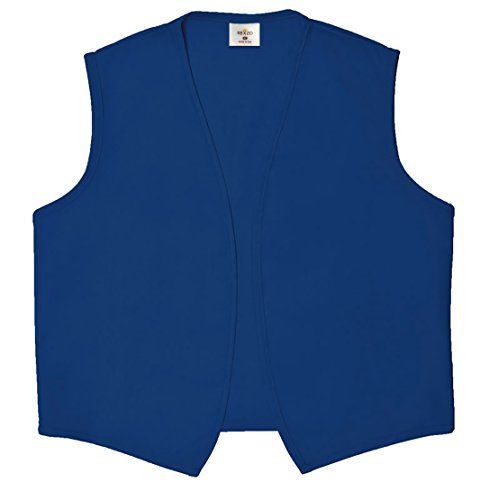 Unisex Vest No Pocket No Buttons- Made in The USA - Royal Blue, XX-Large]()