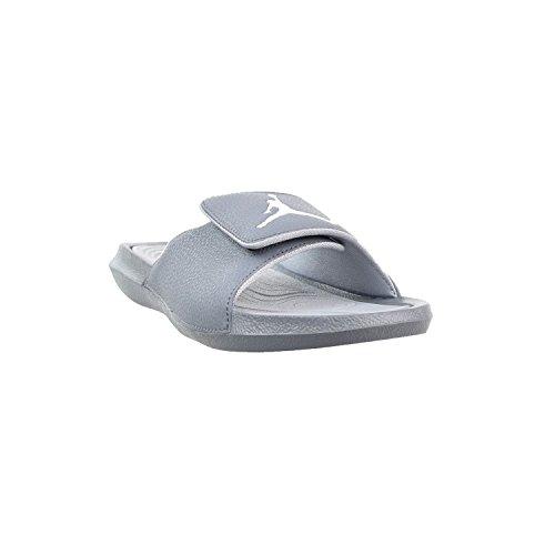 e2d40d1063dc30 Nike Jordan Mens Hydro 6 Slide Sandals Cool Grey White-Wolf ...
